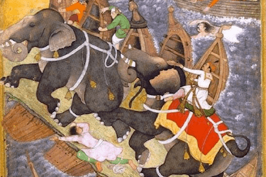 Akbar and the Elephants Cross the Yumna River