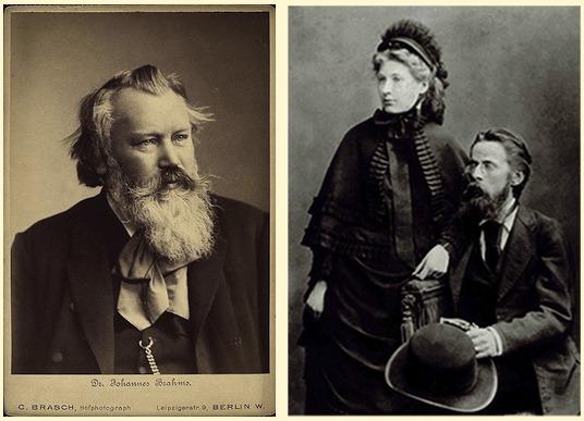 Portraits: Johannes Brahms, Elizabeth and Heinrich von Herzogenberg